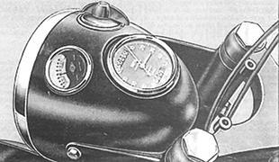 Scott motorcycle headlamp unit