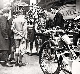 Scott motorcycles show stand, 1930