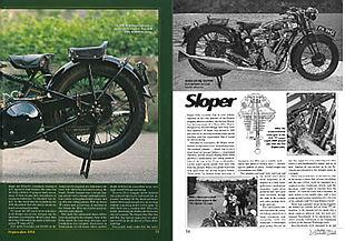 BSA 500cc Sloper classic British motorcycle