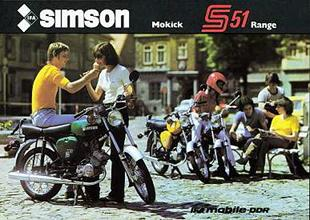 The 50cc Simson S51 range. The B-24 model is nearest camera