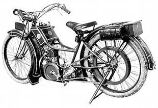 1922 French-made Soyer motorcycle