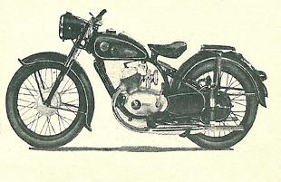 1952 German Durkopp 198cc luxury lightweight motorcycle