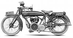 1922 V twin Stanger motorcycle. First production two stroke over 500cc