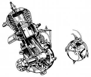 Sun Vitesse disc valve two stroke motorcycle engine