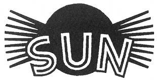 Sun classic motorcycle logo