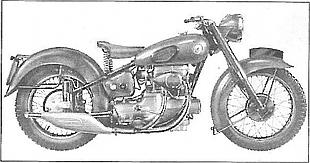 Sunbeam S8 classic motorcycle