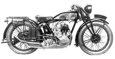 1929 Sun motorcycle with JAP engine