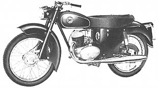 Sun Wasp 200cc classic motorcycle