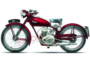 1952 road going Tandon two stroke classic motorcycle
