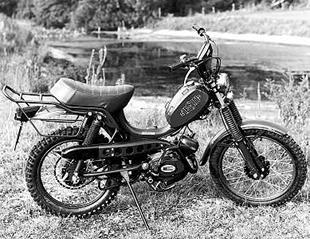 Testi's Militar eight speed moped sometimes had a gun holder!