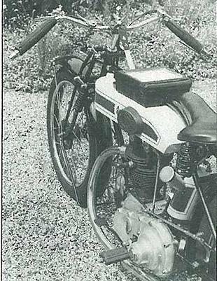 Four-valve Triumph Ricardo classic motorcycle