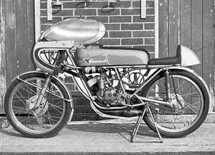 50cc Tohatsu production racing motorcyle from Sixties