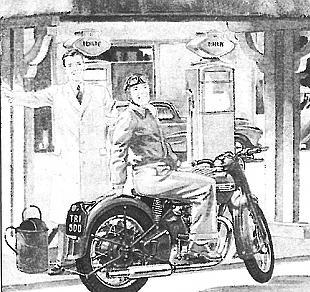 Triumph motorcycle cartoon