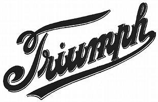 Triumph classic motorcycle logo