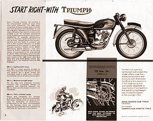 Triumph classic Britihs motorcycle advert