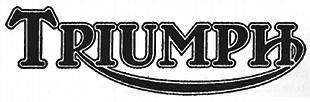 Triumph classic motorcycle logo