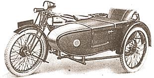 1927 Triumph D sidecar outfit