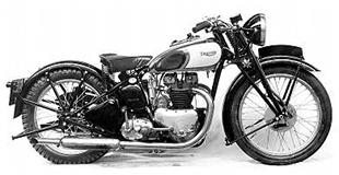 Prototype of Triumph Speed Twin classic motorcycle