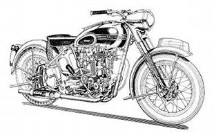 Triumph Thunderbird classic motorcycle artwork