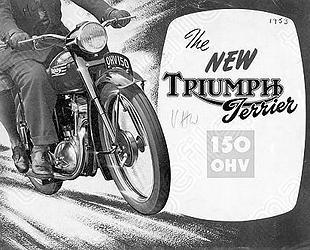 Triumph Terrier motorcycle advertisement