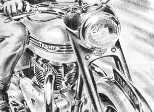 Triumph motorcycle artwork