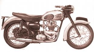 Triumph classic motorcycle