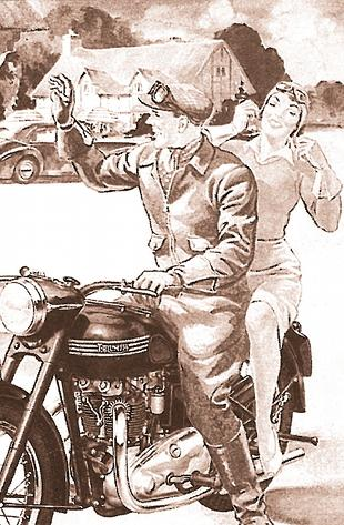 Triumph motorcycle advert