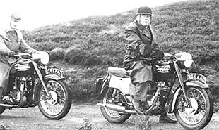 Edward Turner on Triumph Terrier