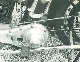 Triumph four-valve Ricardo classic British motorcycle