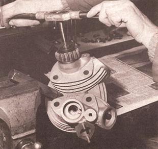 Vincent motorcycle valve gear overhaul