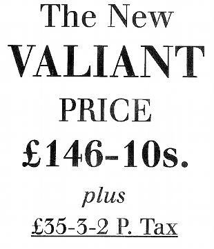Velocette Valiant advertisment