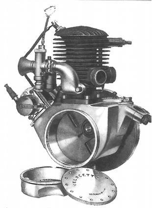 Velocette two stroke engine