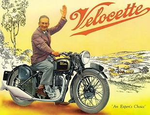 Velocette KTS sales brochure from 1937, featuring Stanley Woods