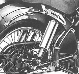 Velocette's unique adjustable motorcycle suspension