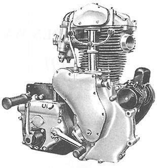 All alloy Velocette MAC engine