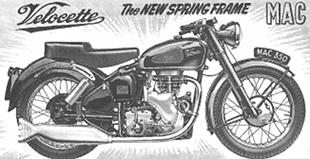 1954 Velocette MAC classic motorcycle