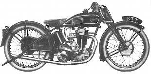 VelocetteKTT classic motorcycle