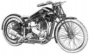 JAP engine-powered Verus classic motorcycle