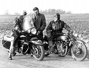 Vincent Series D and Vincent Series A classic motorcycles