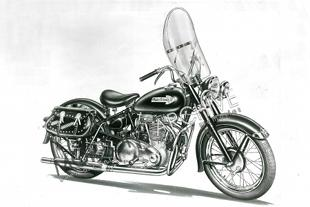 Indian Warrior classic motorcycle engine