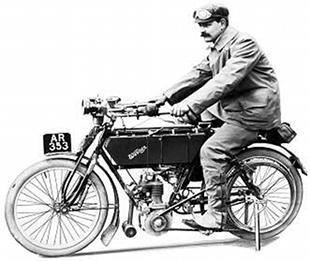 Werner parallel twin classic motorcycle