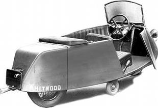 Two-wheeled Whitwood monocar built by Osborn Engineering company