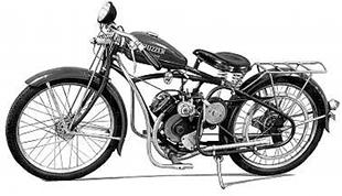 138cc classic Whizzer motorcycle