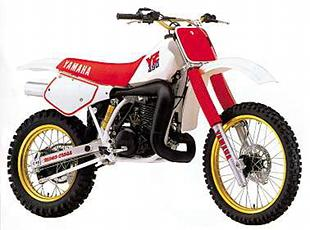 Yamaha YZ490 classic motorcycle