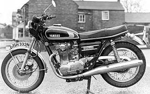 Yamaha XS650 classic motorcycle. The Japanese company's answer to British parallel twins