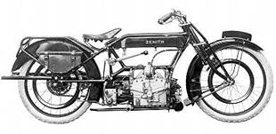 1923 500cc Zenith classic motorcycle with Bradshaw engine