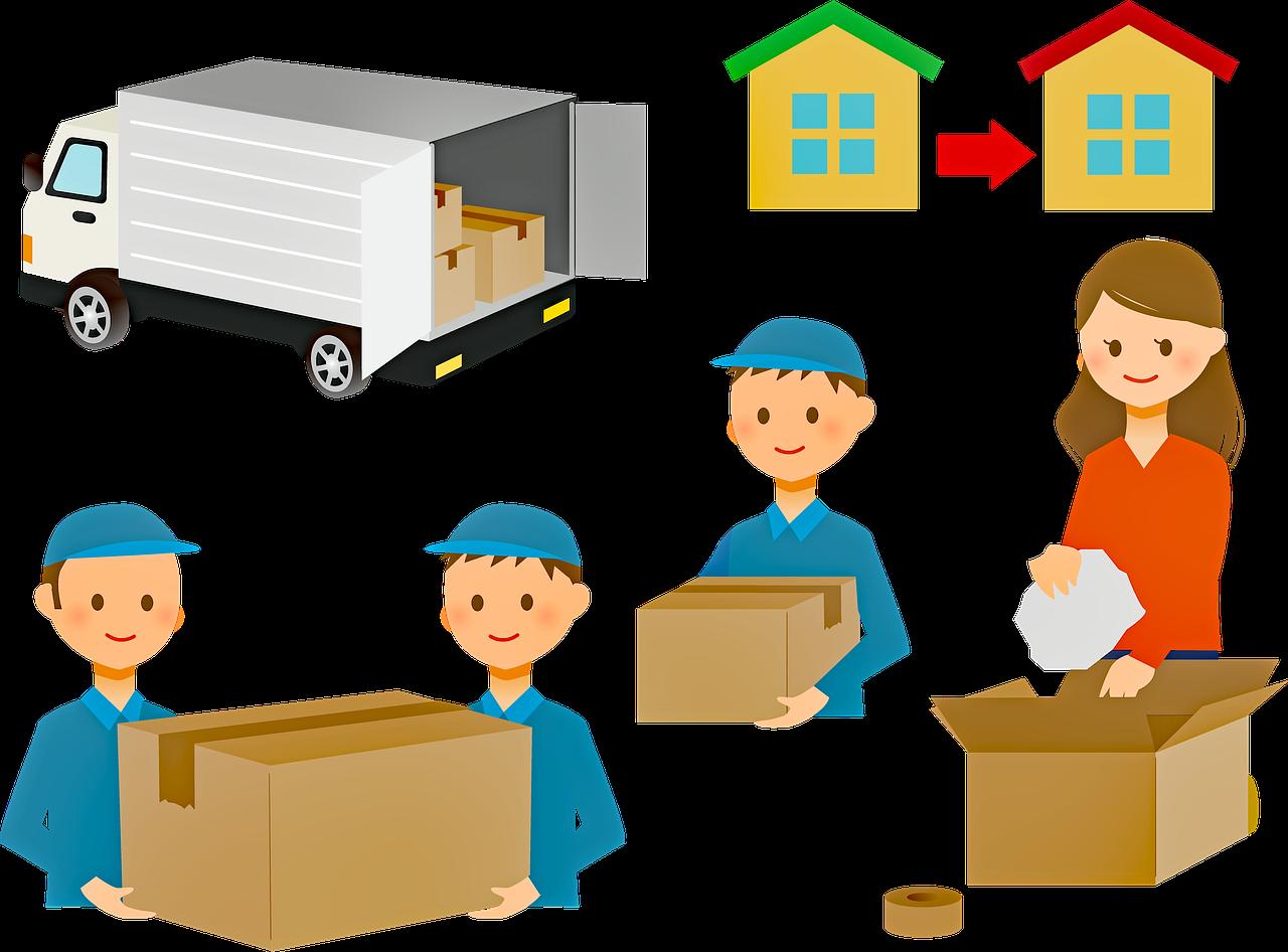Flytthjälp av flyttfirma