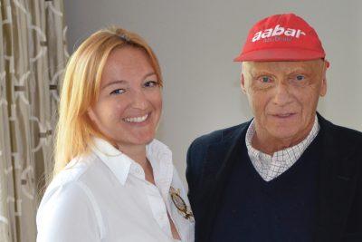 Julia Skardarasy & Niki Lauda