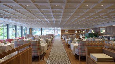 Neuer Speisesaal Gasthof Post mit Panoramablick