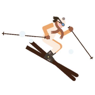 Ll Lz Wussten Skifahrer Illus